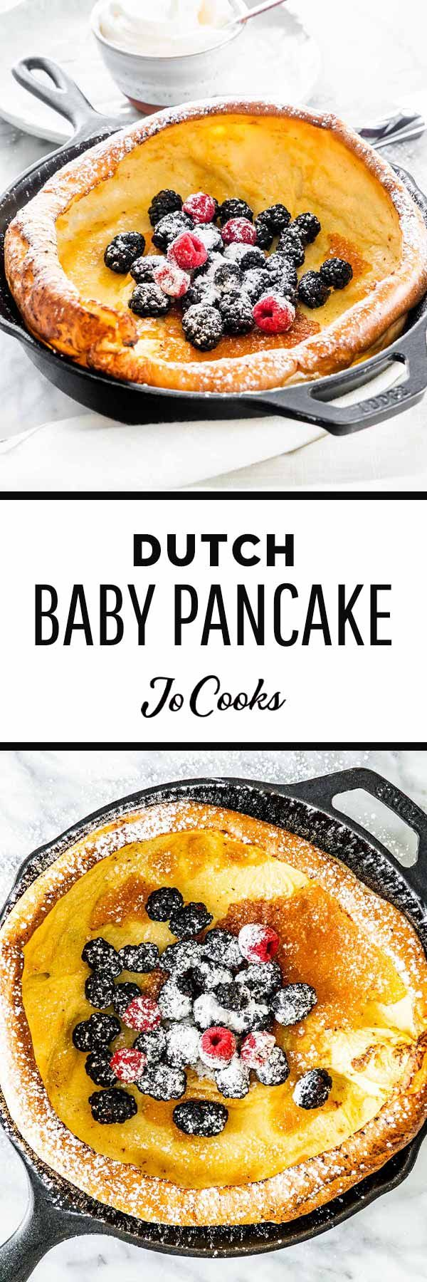 This Dutch baby pancake is large, fluffy and makes for a ...