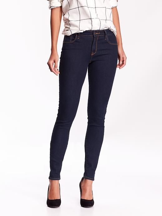 c46d8e42699cd Mid-Rise Rockstar Skinny Jeans. Choose short inseam for an ankle jean.