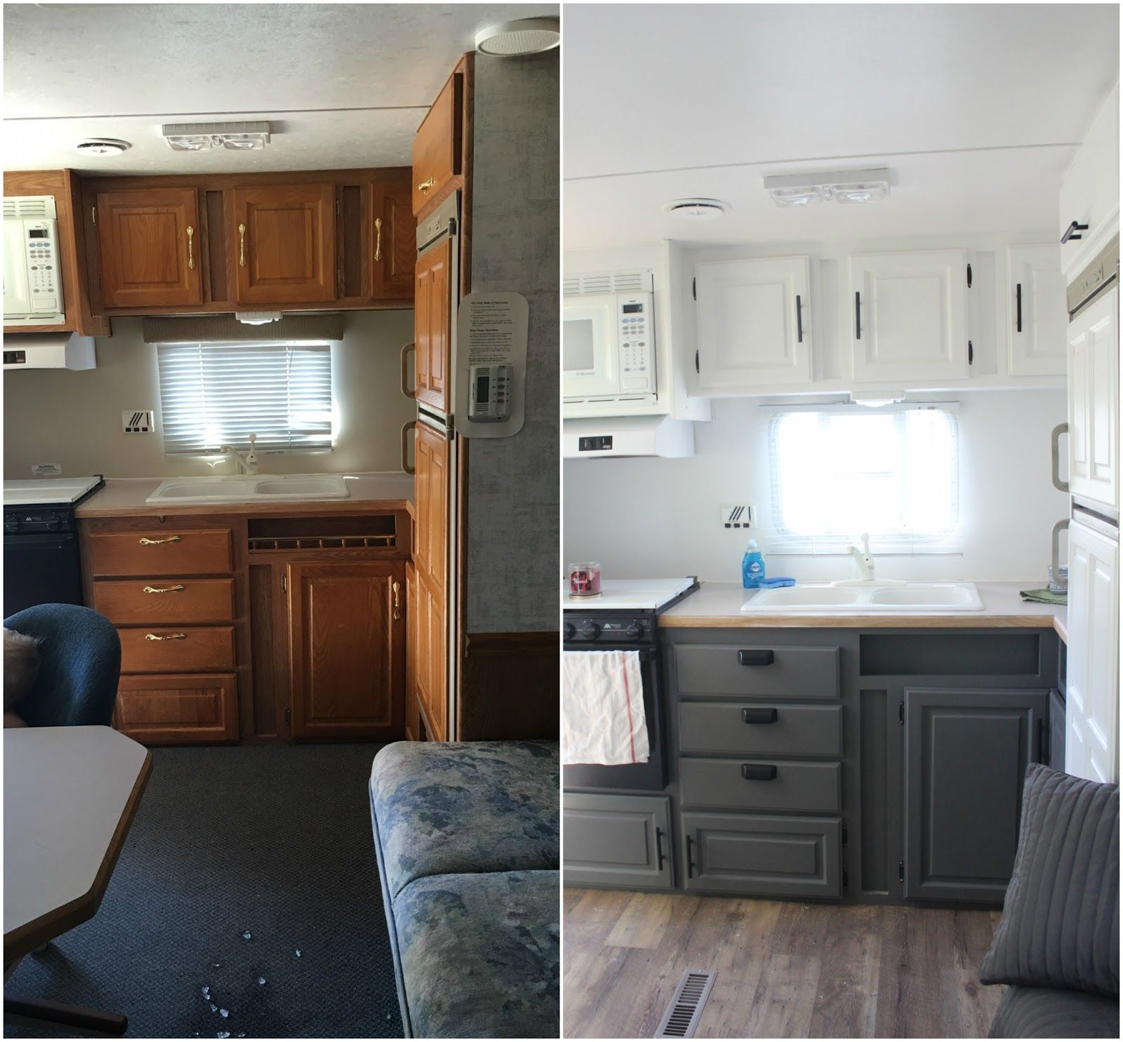camper remodel ideas 54 camper remodeling rv and gray. Black Bedroom Furniture Sets. Home Design Ideas