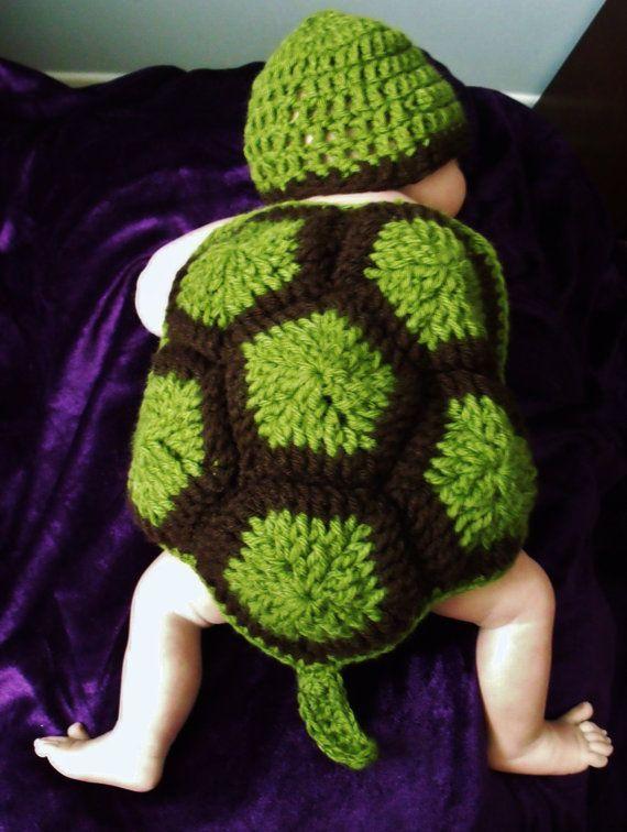 Ensemble tortue pour bebe par tricotinpassion sur Etsy