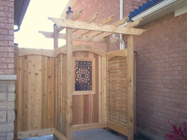 Metal Gate Insert Patio Garden Wooden Gates Garden