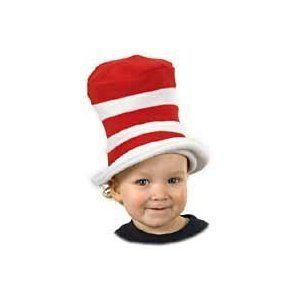 Dr.Seuss Cat In The Hat - Toddler Size by Elope. $7.19. Turn any rainy day into a parade with this Cat in the Hat toddler top hat from Dr. Seuss's children's classic! Includes the iconic red and white striped hat in one-size-fits-most toddler sizing and soft, durable polyester construction.