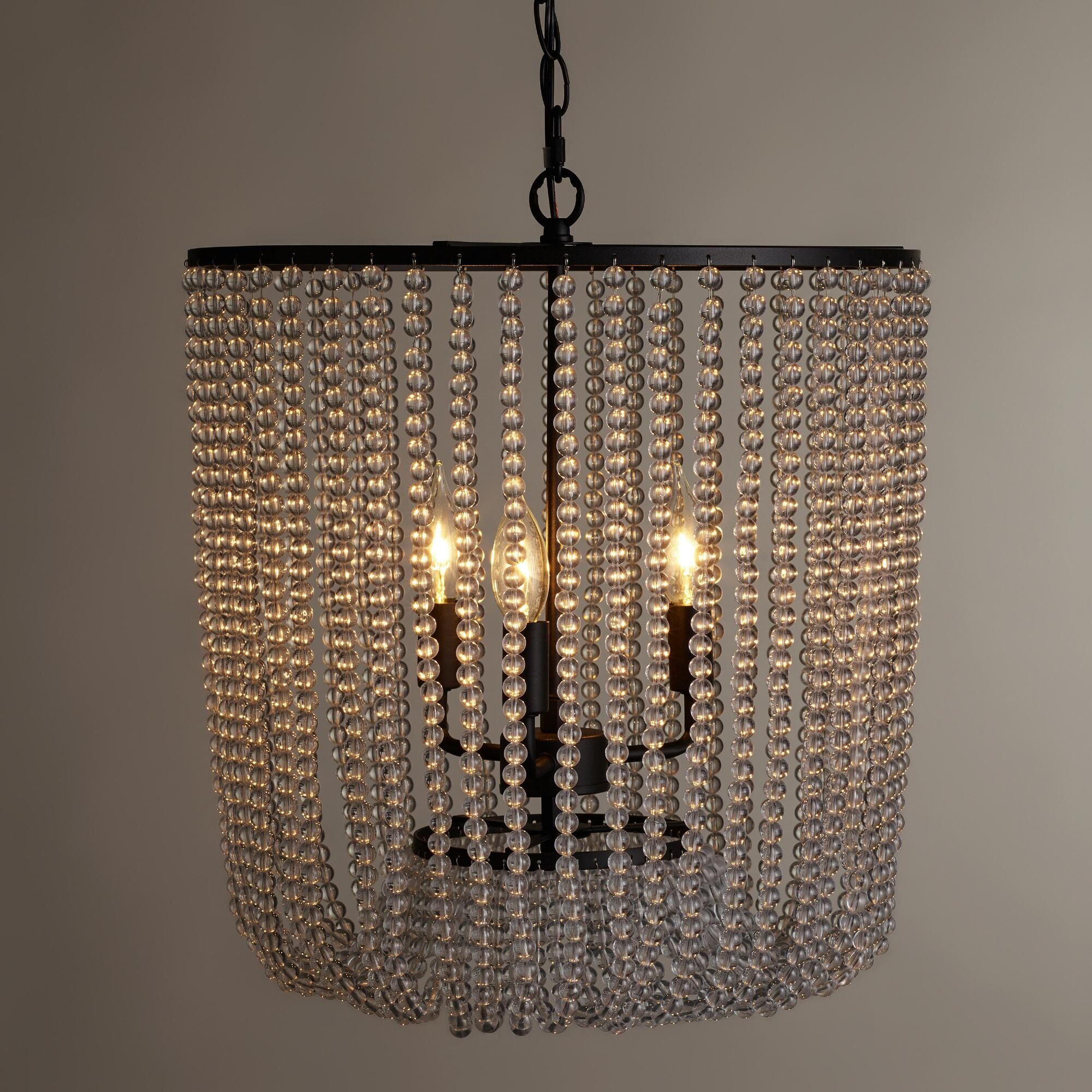Clear bead chandelier beaded chandelier chandeliers and bulbs clear bead chandelier arubaitofo Image collections