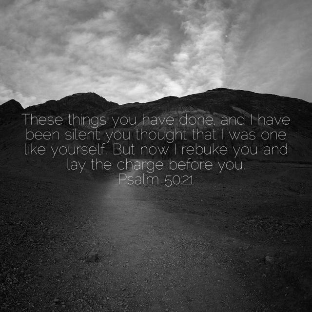 Psalm 50:21