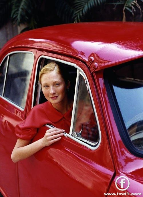 Maggie Rizer looking beautiful - red can be beautiful on redheads