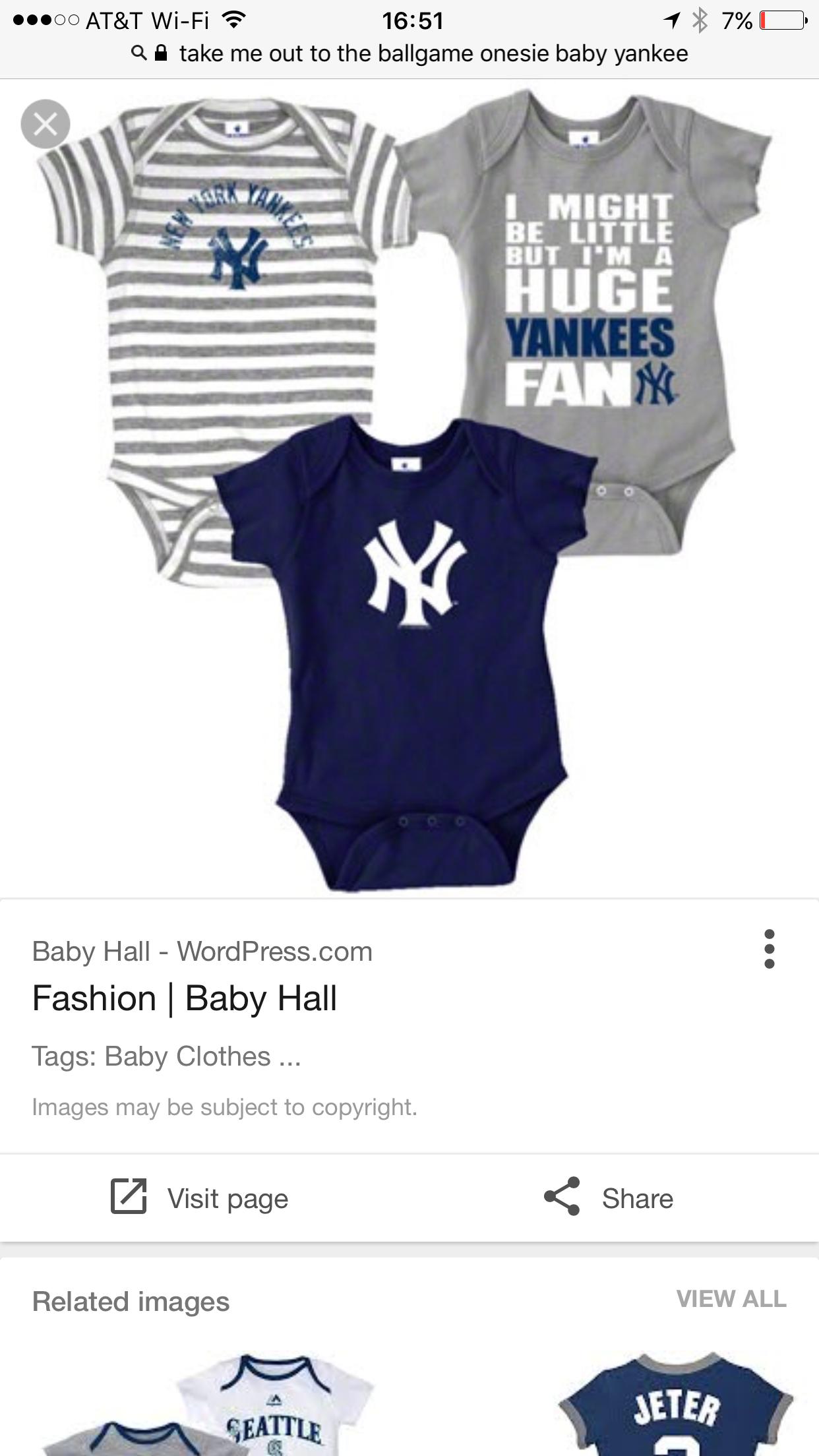 New York Yankees Baby sies Baby Clothing Pinterest