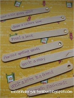 """Popsicle sticks for an """"I'm Done"""" jar...Students pull a stick when they finish early"""