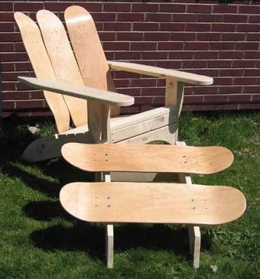 How To Make A Skateboard Chair Google Search Skateboard Furniture Furniture Design Functional Furniture