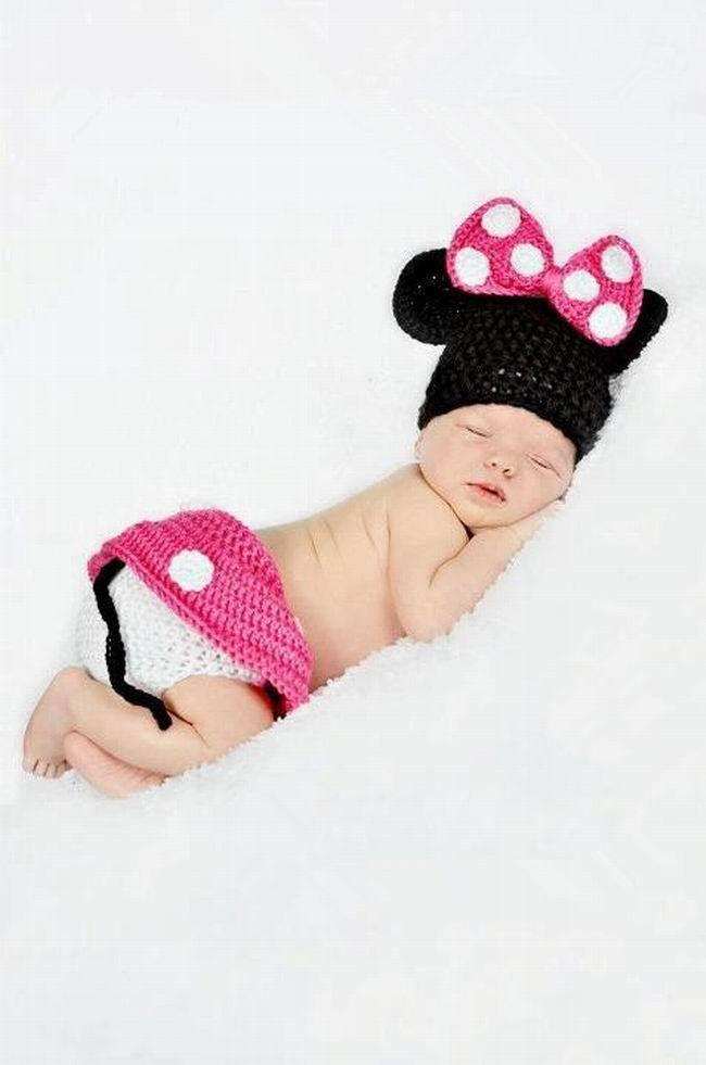 Newborn Baby Crochet Photography Props Handmade Children Mouse ...