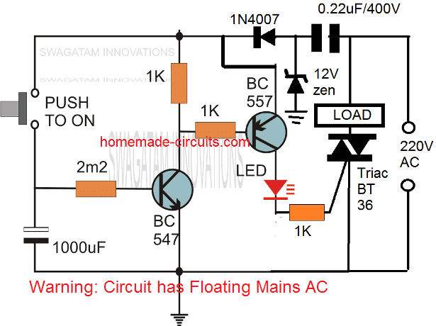Simple Delay Timer Circuits Explained Homemade Circuit Projects Circuit Projects Electronics Circuit Electronic Circuit Projects