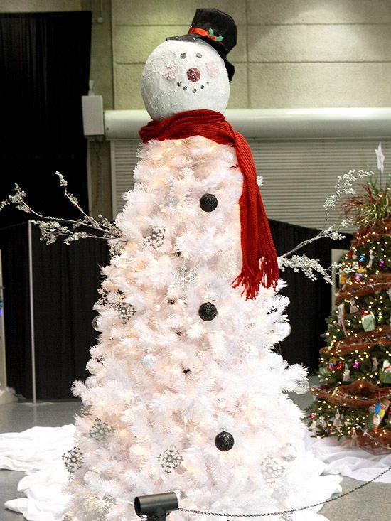 Snowman Christmas Tree.  So cute!