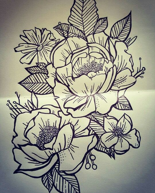 43 Japanese Peony Tattoos Collection: Peony Drawing By Rachel Fitzsimons …