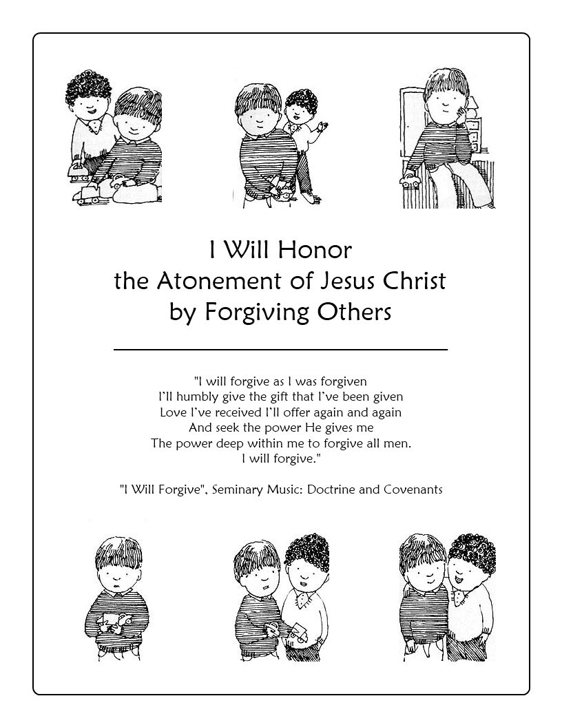 Simple Ideas For Primary 2 Lesson 40 I Will Honor The Atonement Of Jesus Christ By Forgiving Others From Butterfly Impressions 3