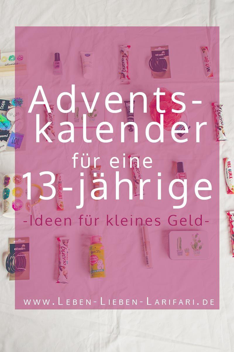 Adventskalender Fur Eine 13 Jahrige Viele Ideen Fur Kleines Geld Adventkalender Adventskalender Teenager Adventskalender