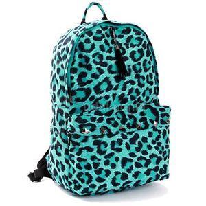 Leopard Print Backpacks For Women Animal Backpack Bookbags Mint 1