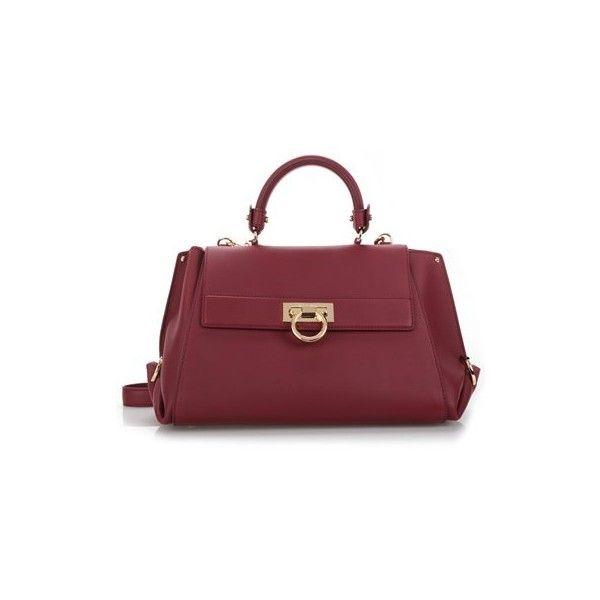 SALVATORE FERRAGAMO Burgundy Leather  Sofia  Tote (2 9c031451cf790