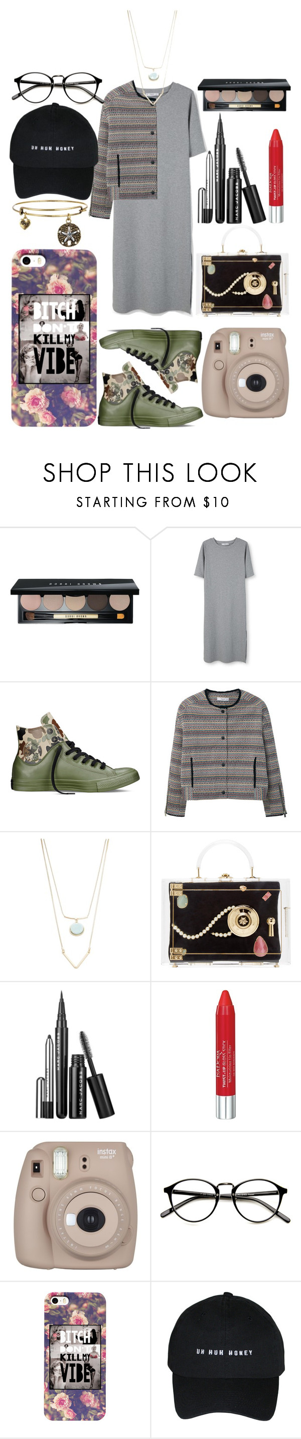 """""""Untitled #84"""" by cemlais22 on Polyvore featuring Bobbi Brown Cosmetics, MANGO, Converse, Robert Rose, Charlotte Olympia, Marc Jacobs and Isadora"""
