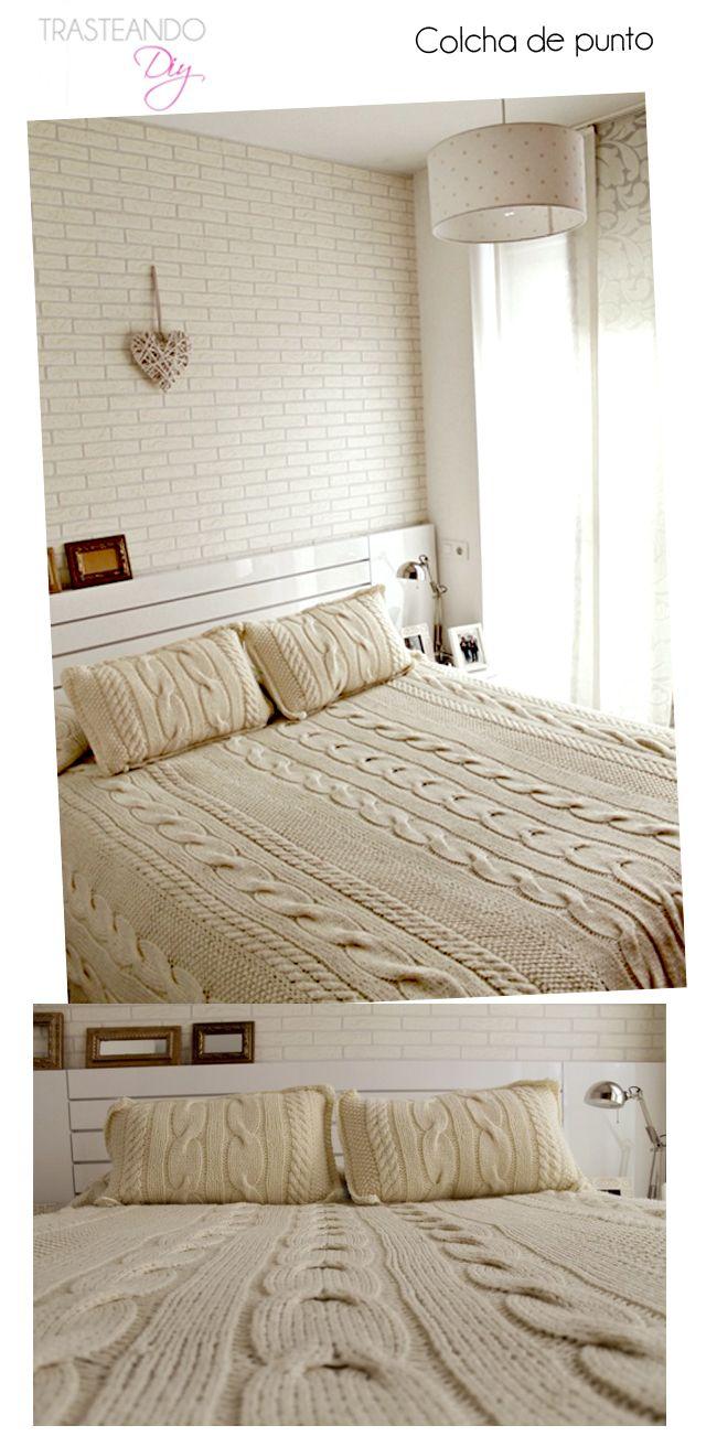 TRASTEANDO DIY: DIYCOLCHA DE PUNTO | Mantas para cama