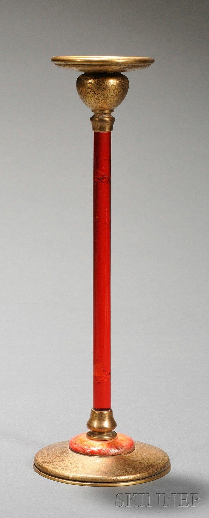 Louis C. Tiffany Furnaces Inc. Candlestick Dore bronze ...