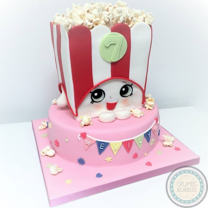 Marvelous Shopkins! Poppy Popcorn Cake.