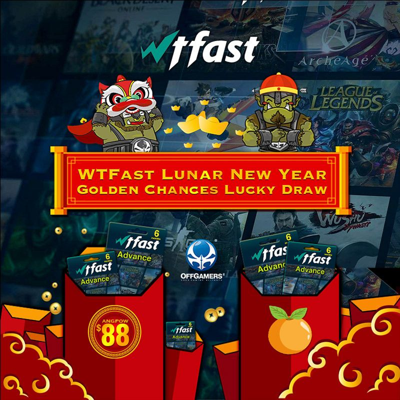 WTFast CNY Golden Chances Lucky Draw Experience Online Gaming