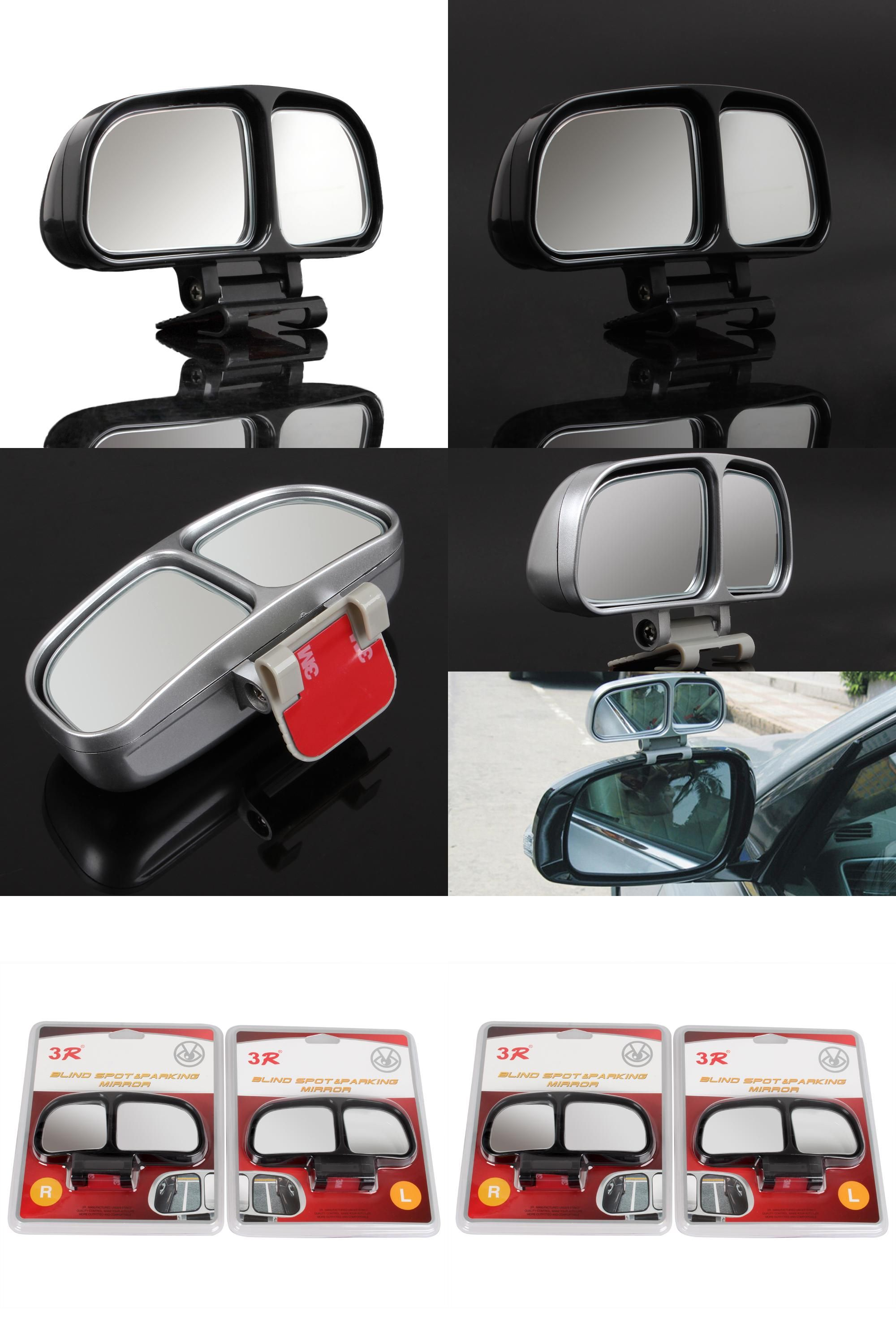 visit to buy black 2pcs vehicle car side rearview blind spot mirrors square mirror