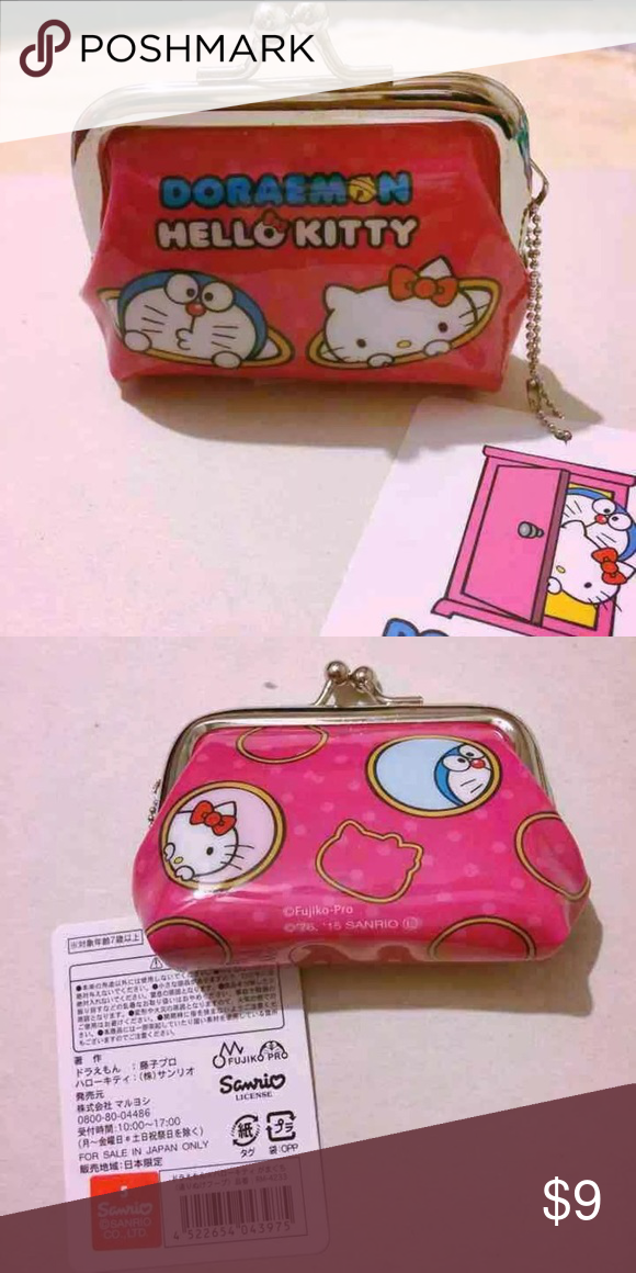 c7de56ef1ff2 Doraemon x Hello Kitty Coinpurse Kawaii Doraemon x Hello Kitty Coinpurse  New Condition authentic Sanrio license Exclusive Japanese collaboration~  Sanrio ...