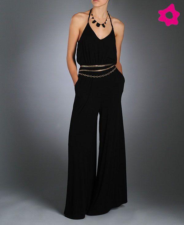 7b0ad7a4a57b jumpsuit negro | JUMPSUIT en 2019 | Pantalones para boda, Vestidos ...