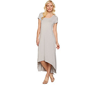 H by Halston Regular Hi-Low Hem Knit Maxi Dress