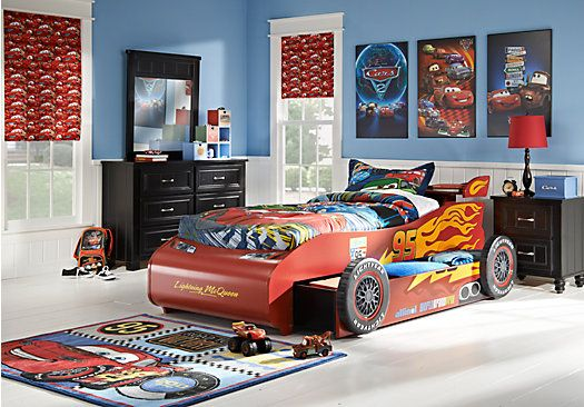 Delightful Disney Cars Lightning McQueen 8 Pc Bedroom   Bedroom Sets, In