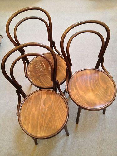 Old Wooden Bistro Chairs | EBay