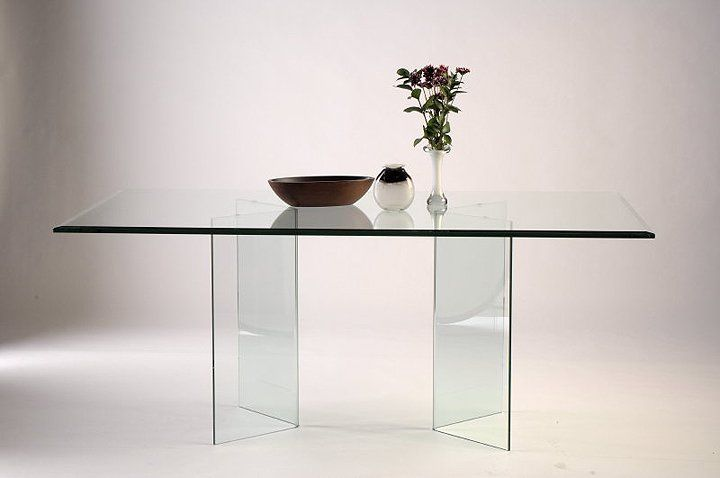 V Shape All Glass Dining Table Base Set Glass Dining Room Table Glass Dinning Table Glass Dining Table