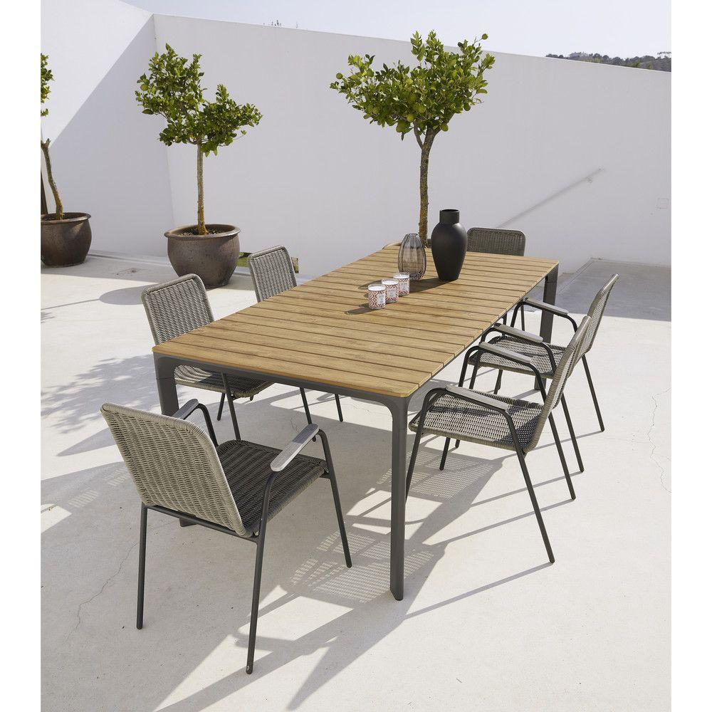 Sillón de jardín color topo | house | Garden table, Table ...