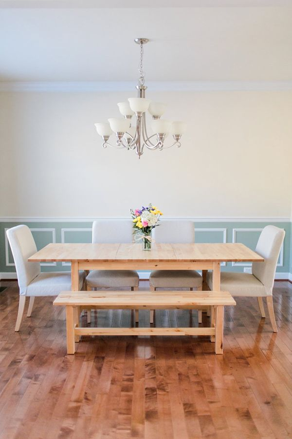We Like This Dining Room Table Ikea Norden Especially With Darker Chairs I Might W Dining Room Bench Seating Bench Seating Kitchen Table Dining Room Table