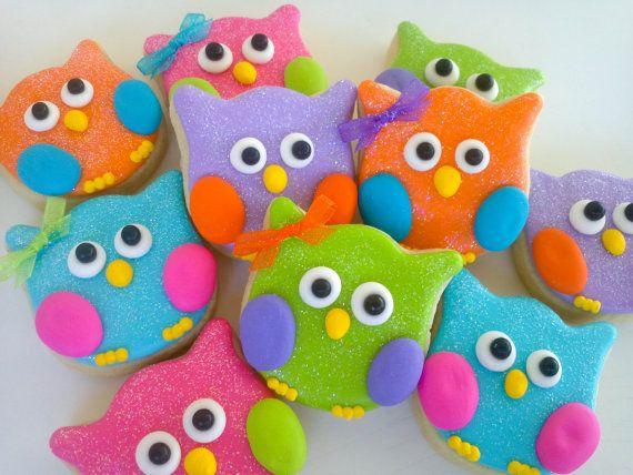 Búhos y Cookies2 docenas de mariposa por acookiejar en Etsy