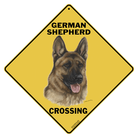 German Shepherd Dog Crossing Road Sign From Sarah J Home Decor. Made From  Aluminium $19.95