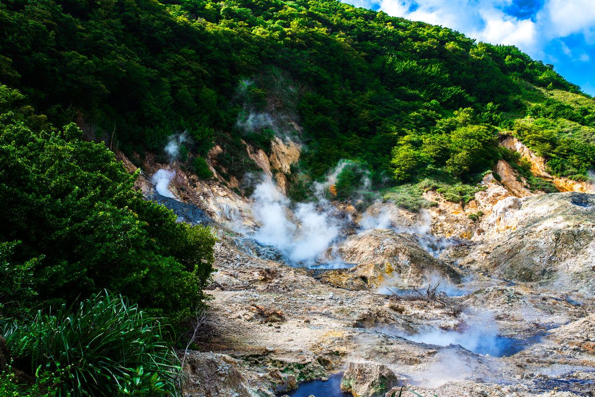 Sulphur Springs Park in St. Lucia. The drive in volcano in the south of the  island. Mini Cooper Road Trip wil… | Sulphur springs, St lucia, Sulphur  springs st lucia