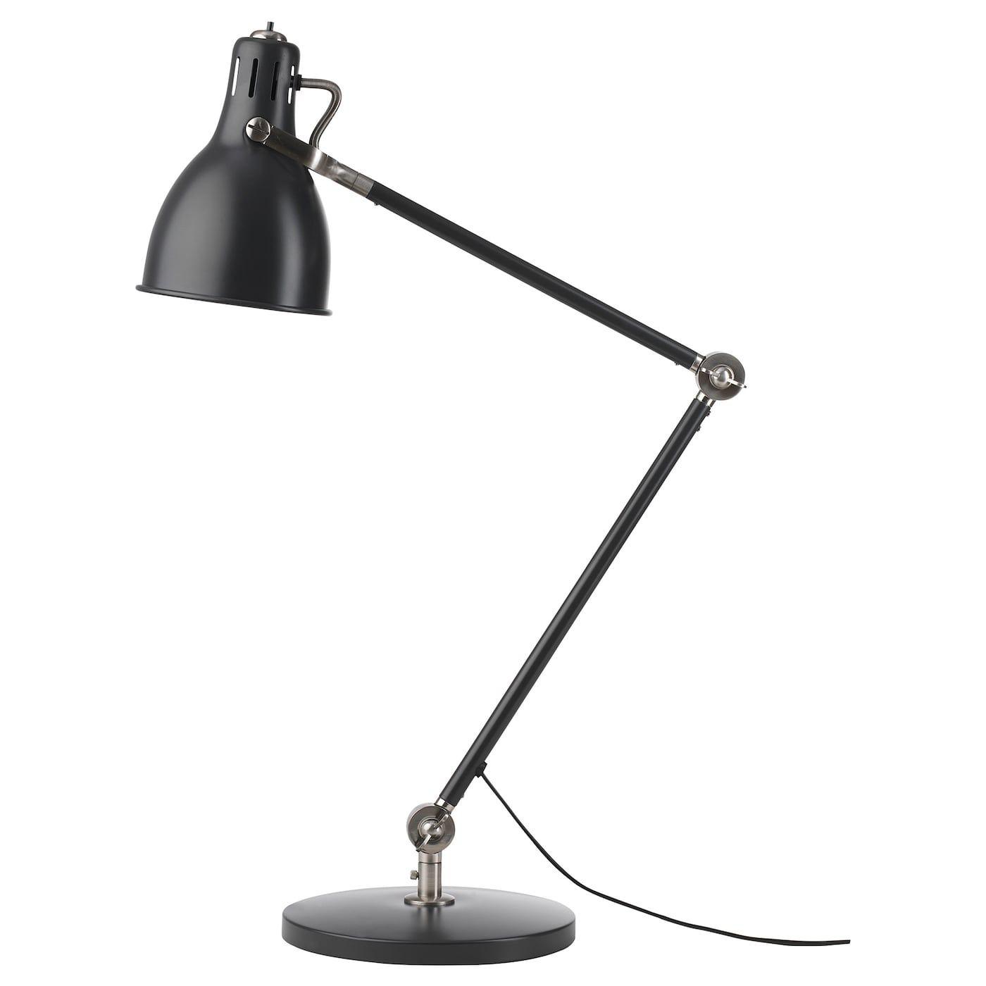 Arod Lampe De Bureau Gris Fonce Anthracite Ikea Skrivebordslampe Ikea Lyspaerer