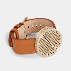 Alexander+Lervik's+Bikupa+watch+features+a+perforated+metal+face