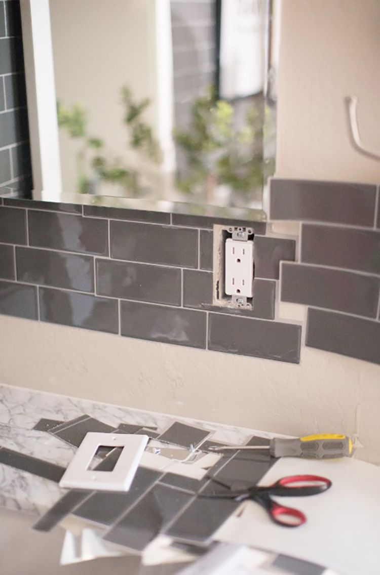 - Transform Your Bathroom With Peel And Stick Backsplash Tiles