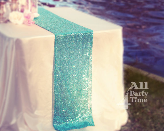 Elegant Color Palette Sequin Table Cloth Runner Made To