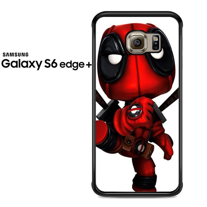 Deadpool Chibby Pose Cartoon Samsung Galaxy S6 Edge Plus Case