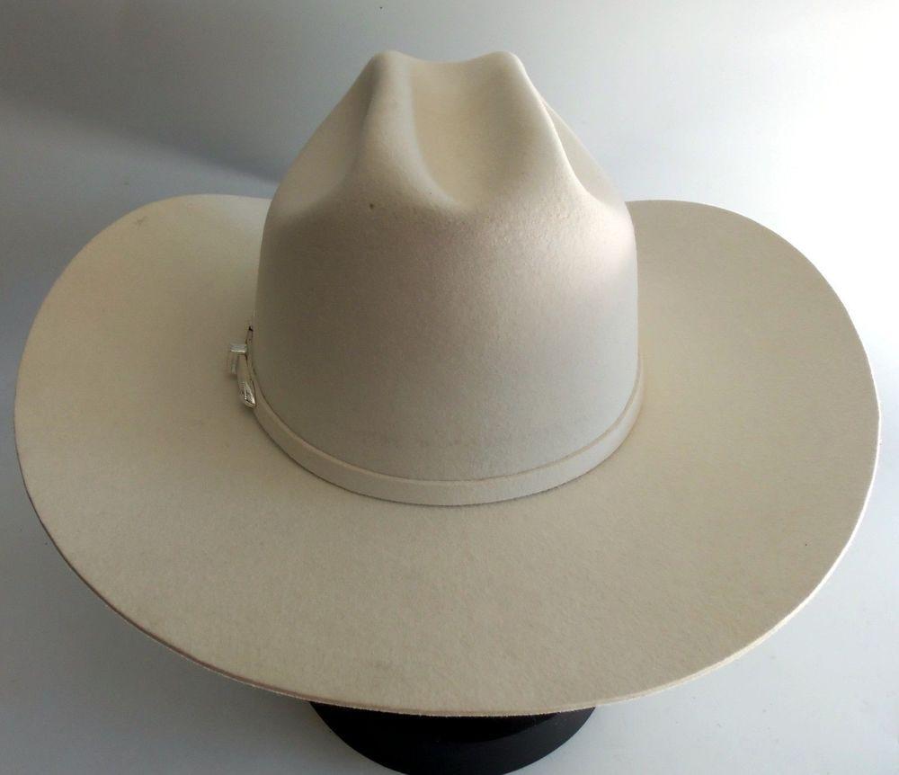 b2c56338ef8 Resistol Pageant Cowboy Hat White 7 3 4 - Brim 4