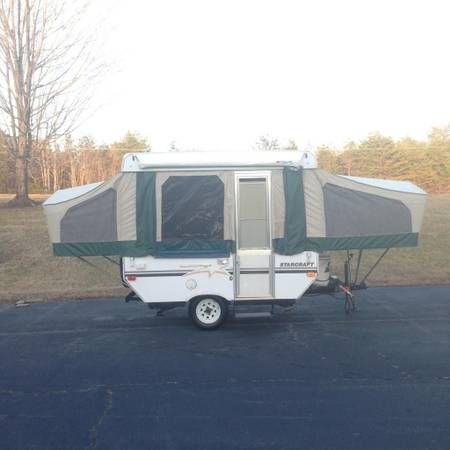 2004 Starcraft 1701 Pop Up Camper Trailer 8ft Box With Awning