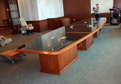 Custom Conference Tables Made In The USA By Hardrox. U Shape, V Shape,  Granite And Wood Conference Tables