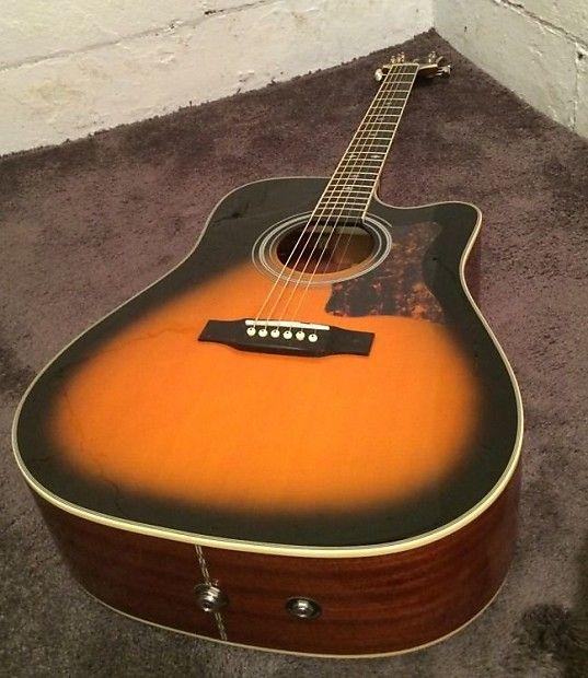 Epiphone Masterbilt Dr 500mce Acoustic Electric Guitar Vintage Sunburst Reverb Acoustic Electric Guitar Acoustic Electric Guitar