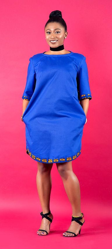 a00d618a06 Loose fitted dress made to suit all body shapes. Ankara Dress