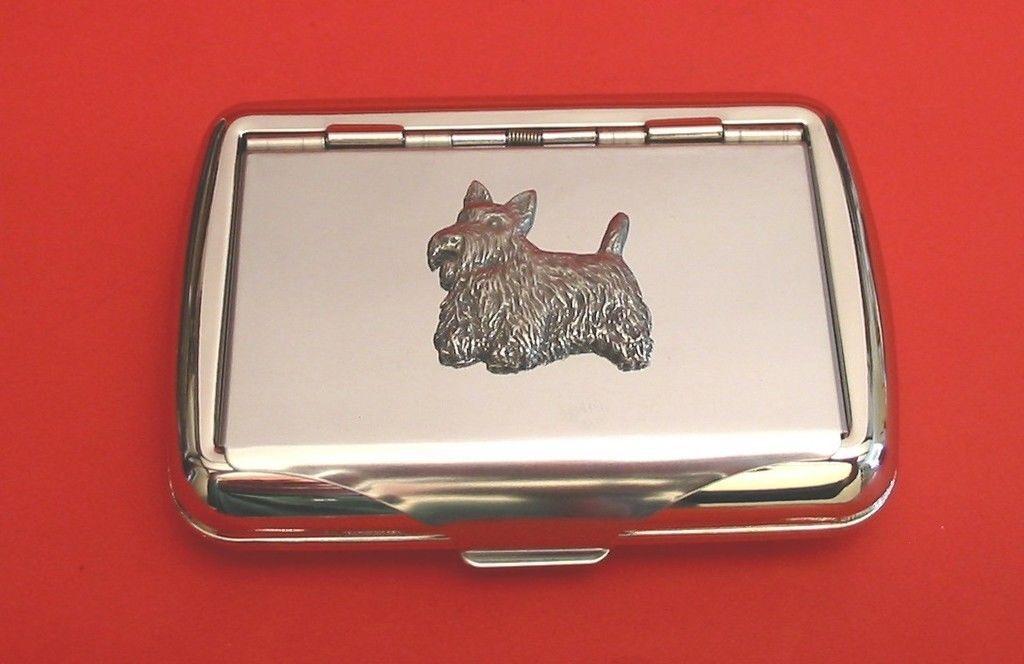 Scottish Terrier Motif Tobacco Tin Box Man S Gift Pet Scottish Terrier Pet Vet Mens Gifts