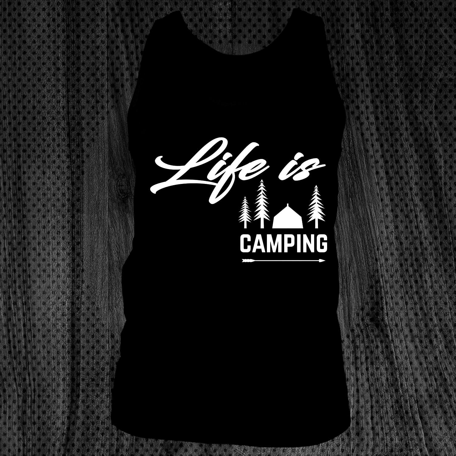Life Is Camping Gift Campers Great camping t shirt/mug/bag gift for family, frie...  Life Is Campin
