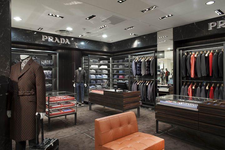 Prada Mens Corner Paris France Store Design Interior Store Interiors Shop Interior Design
